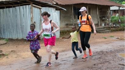The marathon in Makeni