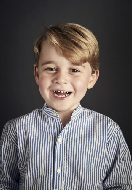 Prince George's birthday portrait