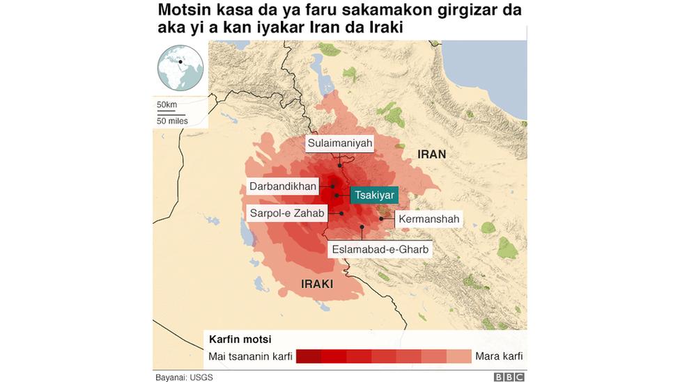 Map Iran/Iraq