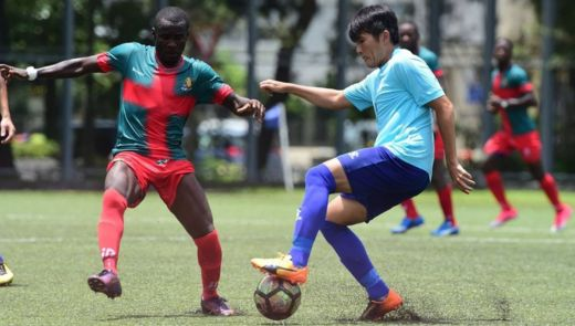 All Black FC na karawa da Biu Chun Rangers, wadanda suke wasa a gasar Primiya ta the Hong Kong