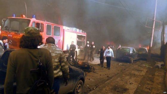 Image result for Syria conflict: Bomb kills dozens in Azaz on Turkish border