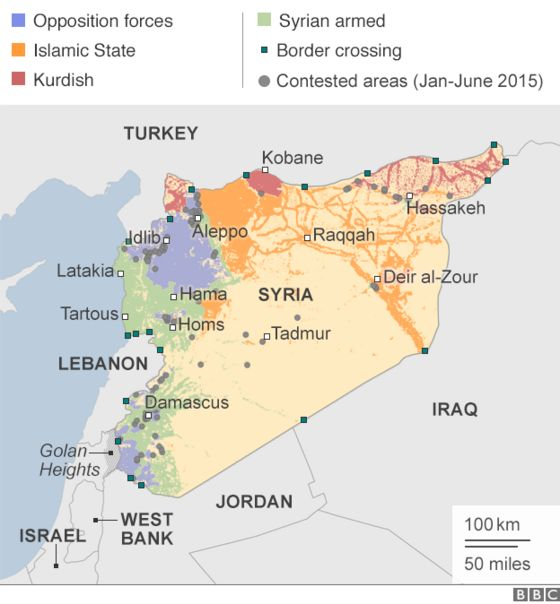 Syria Mapping The Conflict BBC News - Where is syria located on the map