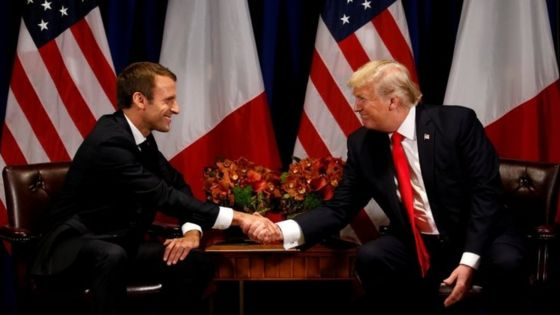 Climate change: Trump will bring US back into Paris deal - Macron