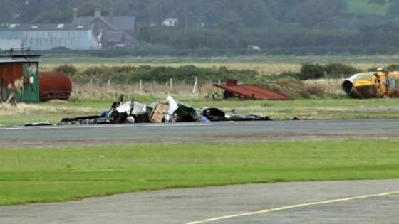 Caernarfon Airport fatal plane crash pilot named locally