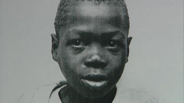 Black and white photo of Stompie Seipei