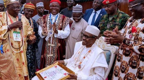 Shugaba Buhari a jihar Ebonyi