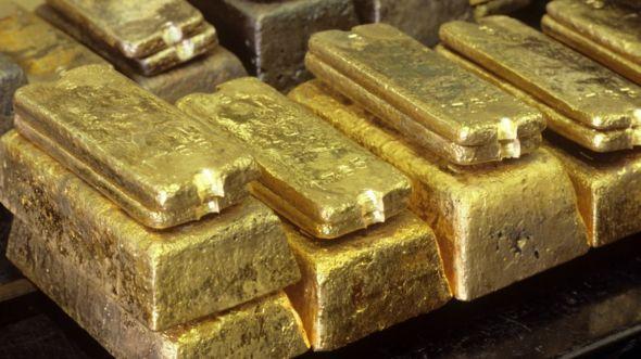 Gold ingots (file image)