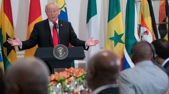 Liyafar cin abincin Trump da shugabannin Afirka