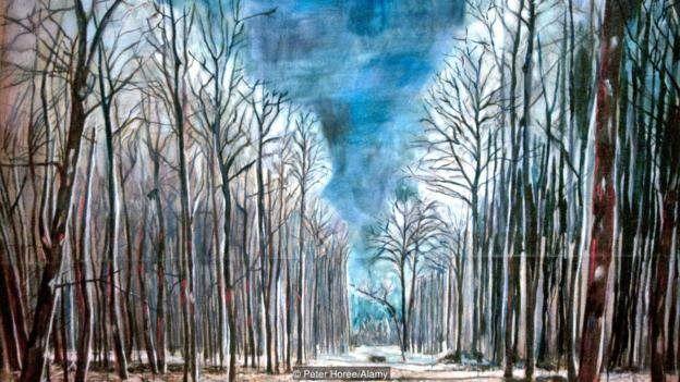 Alman rəssam Anselm Kiefer tez-tez rəsmlərində qadağan olunmuş meşə və ağacları təcəssüm etdirir, 1973-cü ildə çəkdiyi Resurrexit əsəri kimi