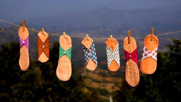 尼泊爾山區婦女製作的布衛生巾