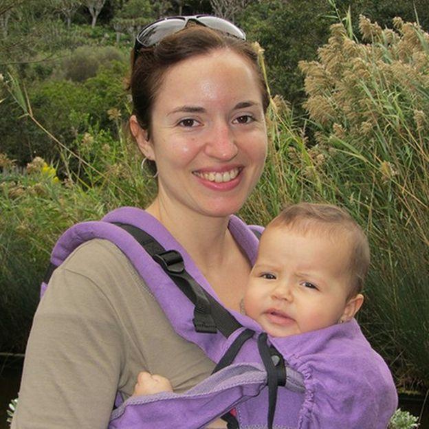 Patricia Verdú com sua bebê