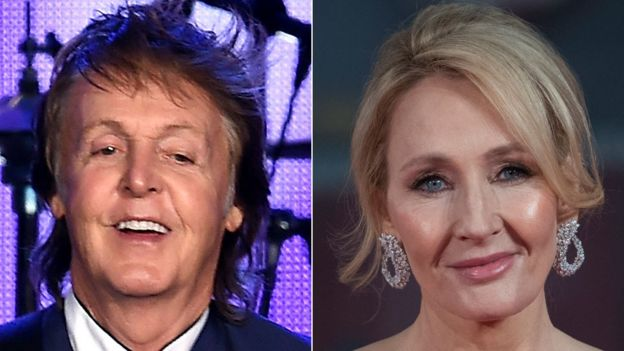 Sir Paul McCartney and JK Rowling