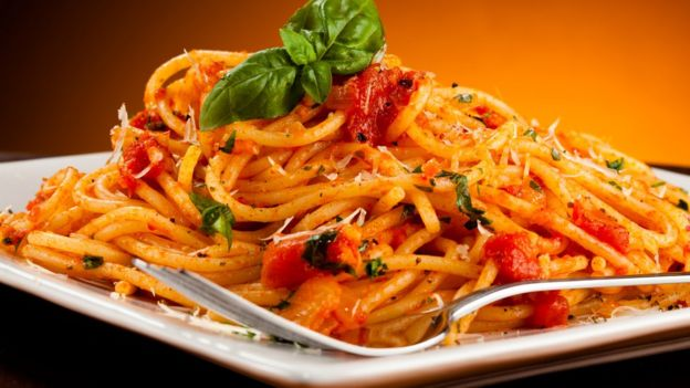 Espagueti a la napolitana