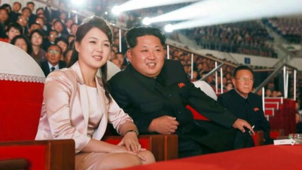 North Korean leader and his wife