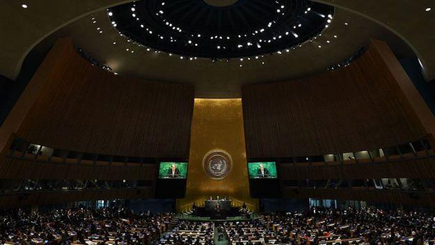 Asamblea General de la ONU reunida en Nueva York.