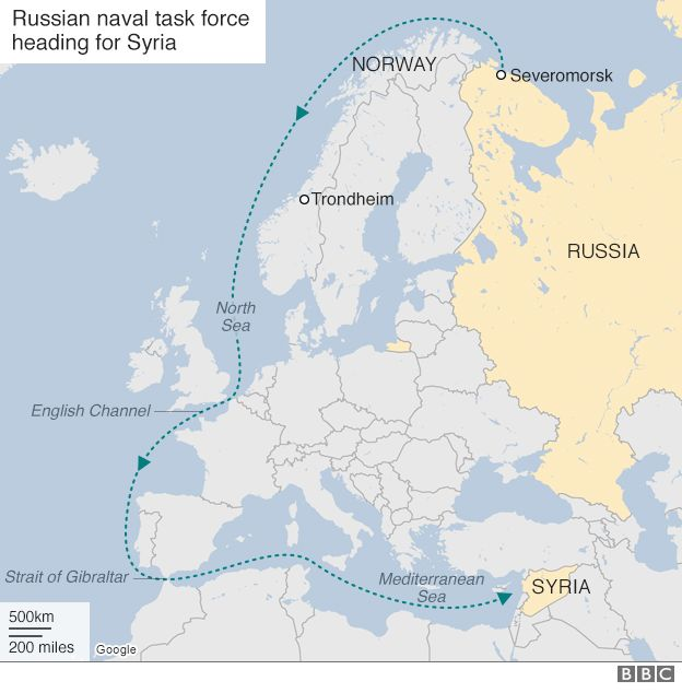 Major Russian Naval Force Sails To North Sea Past Norway BBC News - Norway map world