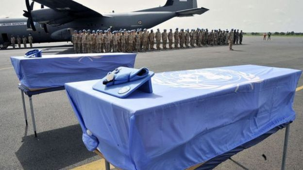 Caixão de soldados da ONU