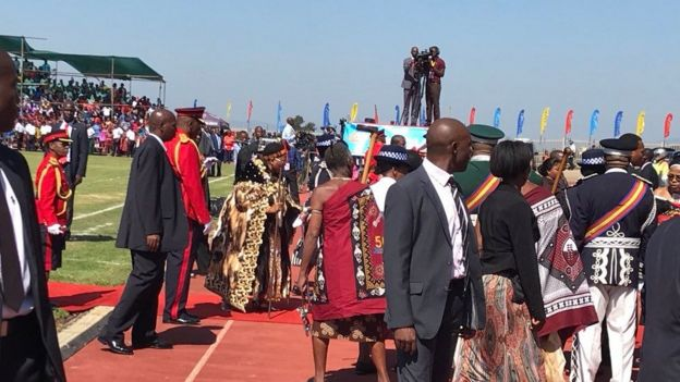 Celebrations marking Swaziland's 50th anniversary of independence and the king's birthday