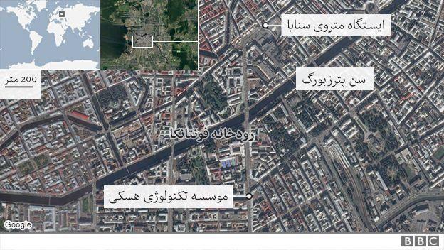 نقشه محل انفجار