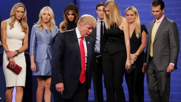 _91994810_trumpfamily us presidential debate trump won't commit to accept election,Trump Family Meme