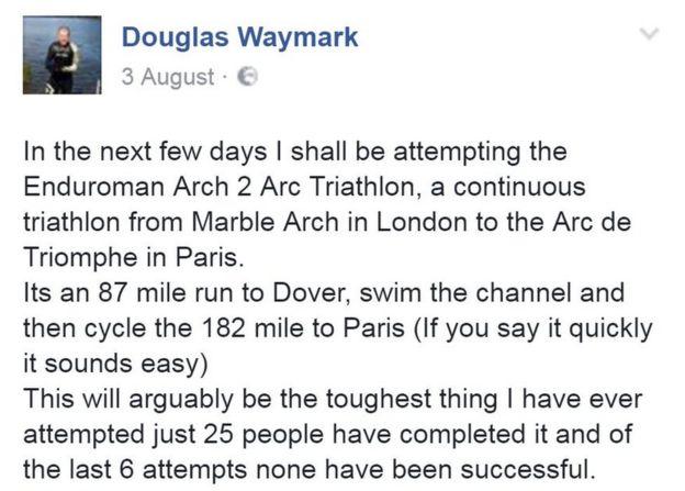 Bay Waymark olay hakkında kendi Facebook sayfasında yayınladı