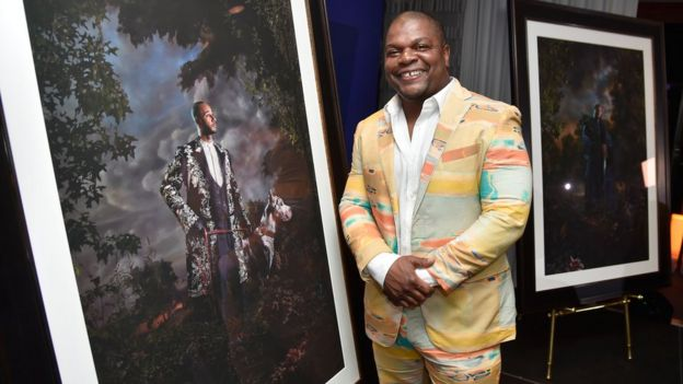 Artist Kehinde Wiley attends the Grey Goose Presents Kehinde Wiley 'Modern Kings of Culture' Art Auction at SLS South Beach on December 4, 2014 in Miami, Florida