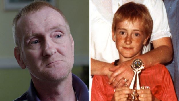 Kenny Campbell now and as a child
