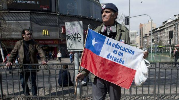 Durante el primer mandato de Piñera, hubo protestas que exigían la gratuidad de la educación.