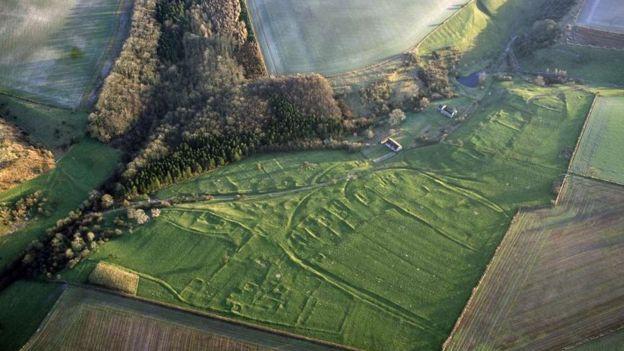 Vista aérea de Wharram Percy