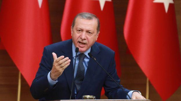 Erdoğan, haber ardından