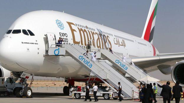 阿联酋航空A380超大型客机
