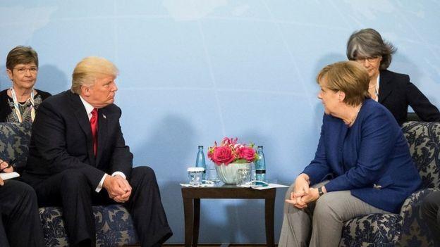 Merkel na Trump