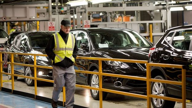 UK worker at Nissan car plant in Sunderland