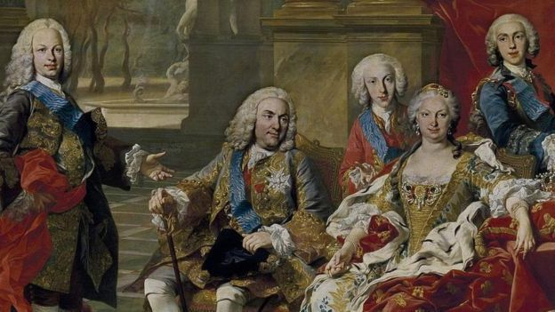 Retrato de Felipe V y su familia.