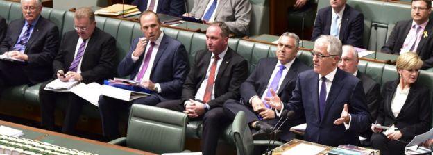 Malcolm Turnbull sworn in as new Australian prime minister - BBC News