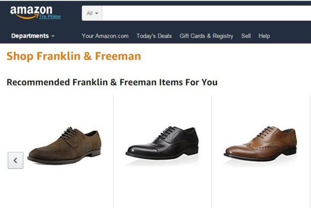 Captura de pantalla de la página web de Amazon.