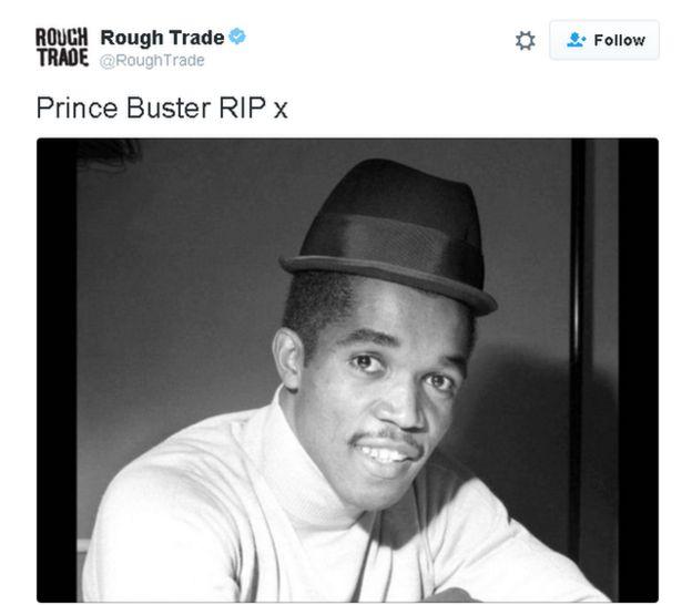 Tweet lee: Prince Buster RIP x