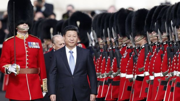 Mr Xi given guard of honour
