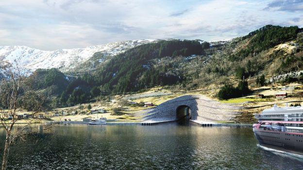 Imagen del tunel desde afuera