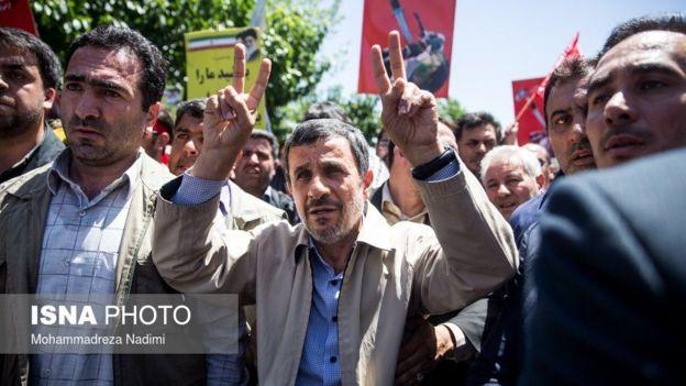 محمود احمدینژاد در راهپیمایی روز قدس
