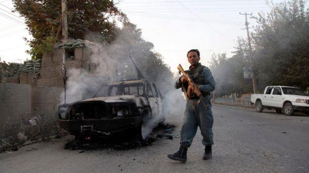 Afghan soldier in Kunduz on 1 October 2015