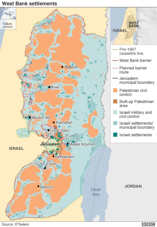 Israel and the palestinians can settlement issue be solved bbc west bank settlements map gumiabroncs Choice Image
