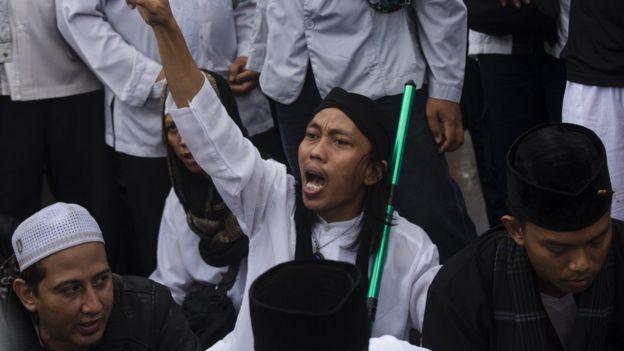 Hardline protester