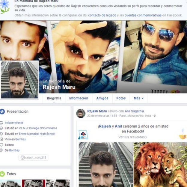 Perfil de Facebook de Rajesh Maru