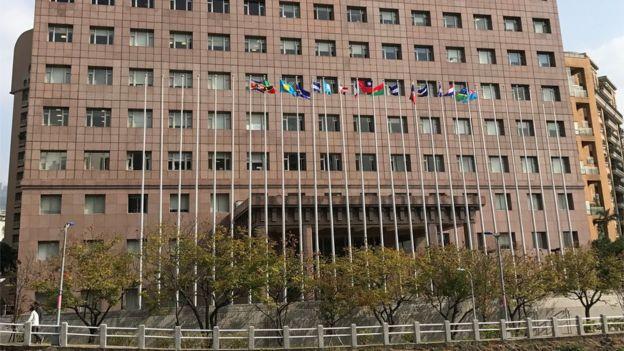 大部分台湾邦交国的大使馆都集中在一栋大楼中。