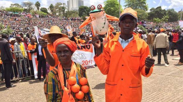 Wafuasi wa chama cha ODM uwanjani Uhuru Park