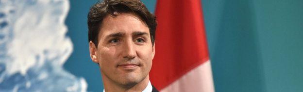 Kanada Başbakanı Justin Trudeau, 27 Mayıs 2017'de Sicilya'nın Taormina kentindeki Devlet ve Hükümet Başkanları Zirvesi'nin sonunda bir basın toplantısı düzenledi