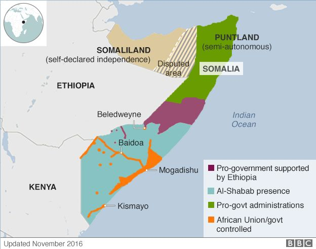 Political map of Somalia 624x491 MapPorn