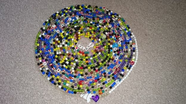 "Dylan""s collection of beads"