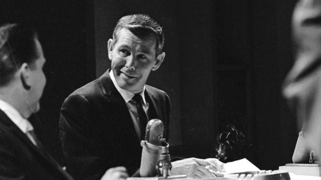 Johnny Carson en uno de su programas